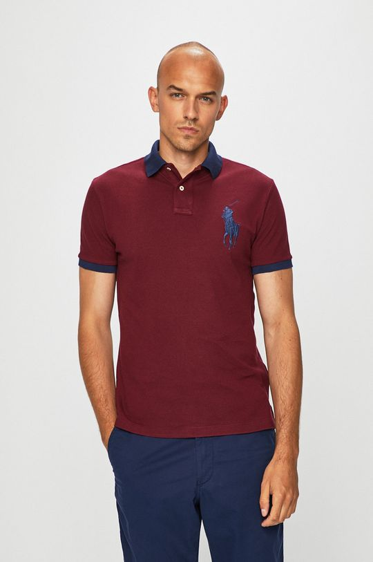 kaštanová Polo Ralph Lauren - Polo tričko Pánský