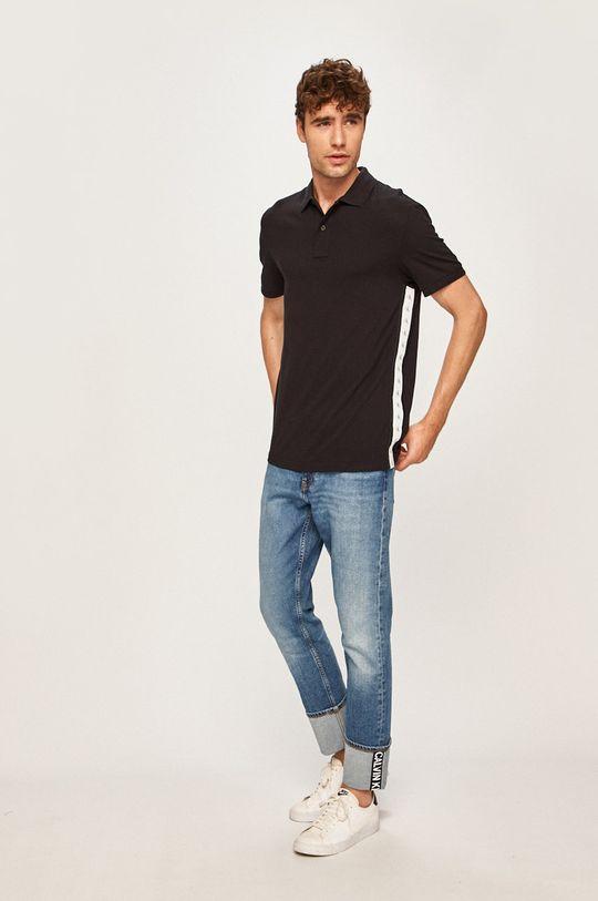 negru Calvin Klein Jeans - Tricou Polo De bărbați