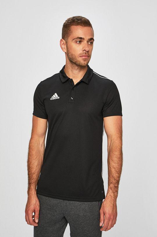 čierna adidas Performance - Pánske polo tričko Pánsky