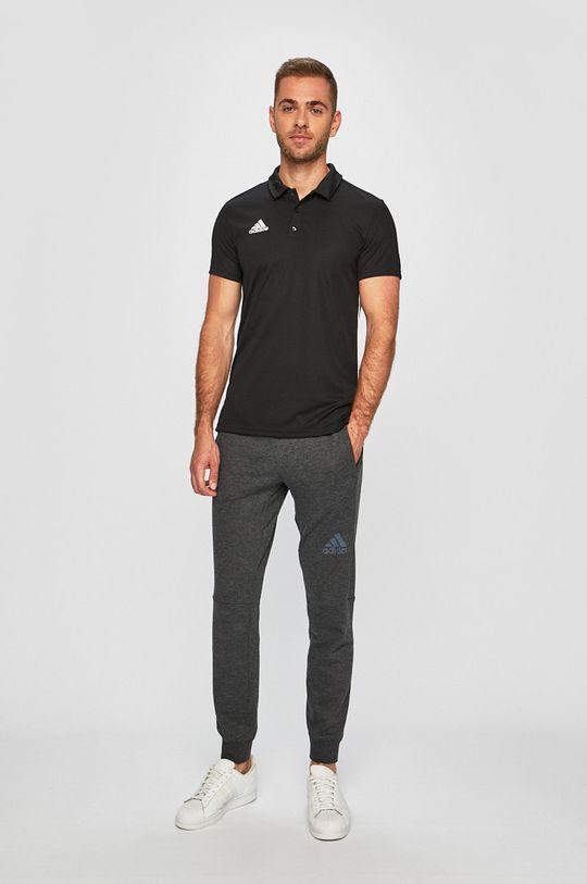 adidas Performance - Pánske polo tričko čierna