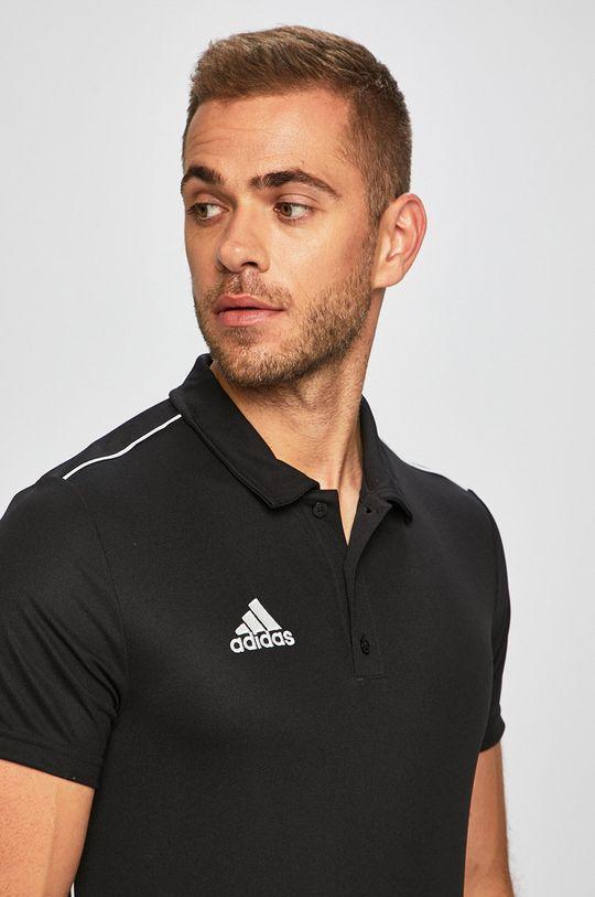čierna adidas Performance - Pánske polo tričko