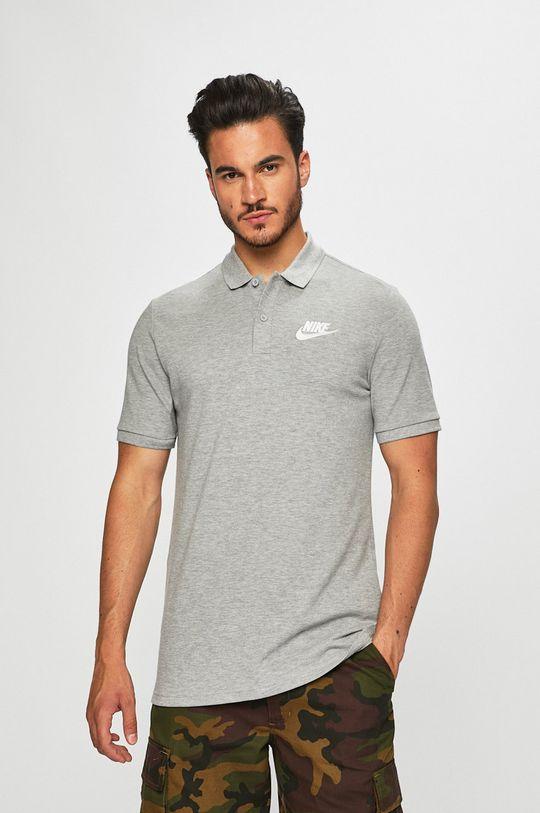 šedá Nike Sportswear - Polo tričko Pánský