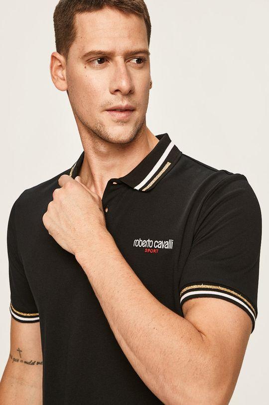 negru Roberto Cavalli Sport - Tricou Polo De bărbați