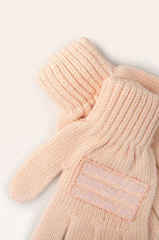 Calvin Klein Jeans - Detské rukavice ružová
