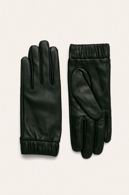 čierna Vero Moda - Kožené rukavice Dámsky
