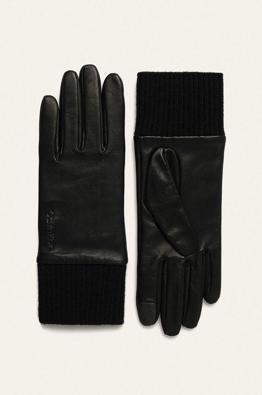 černá Calvin Klein - Kožené rukavice Dámský