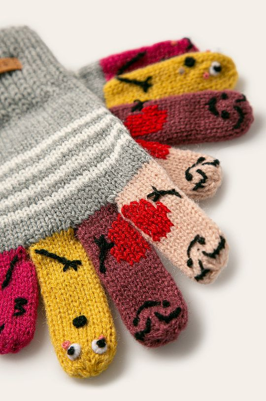 Barts - Detské rukavice svetlosivá