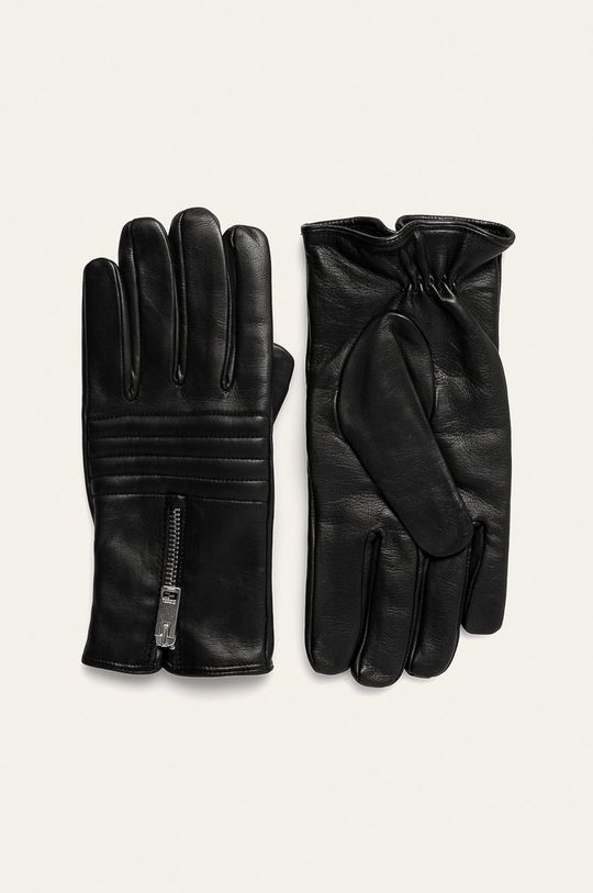 černá Diesel - Kožené rukavice Pánský