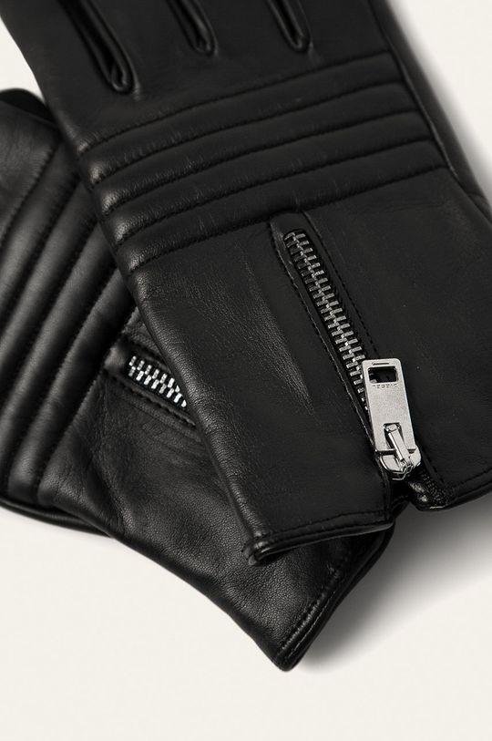 Diesel - Kožené rukavice černá