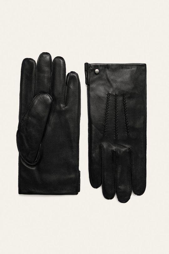 čierna Joop! - Kožené rukavice Pánsky