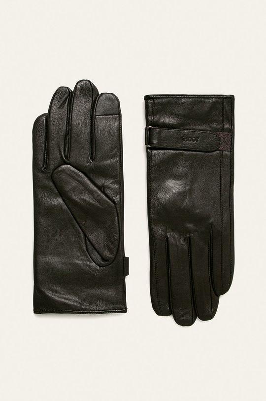 brązowy Joop! - Rękawiczki skórzane Męski