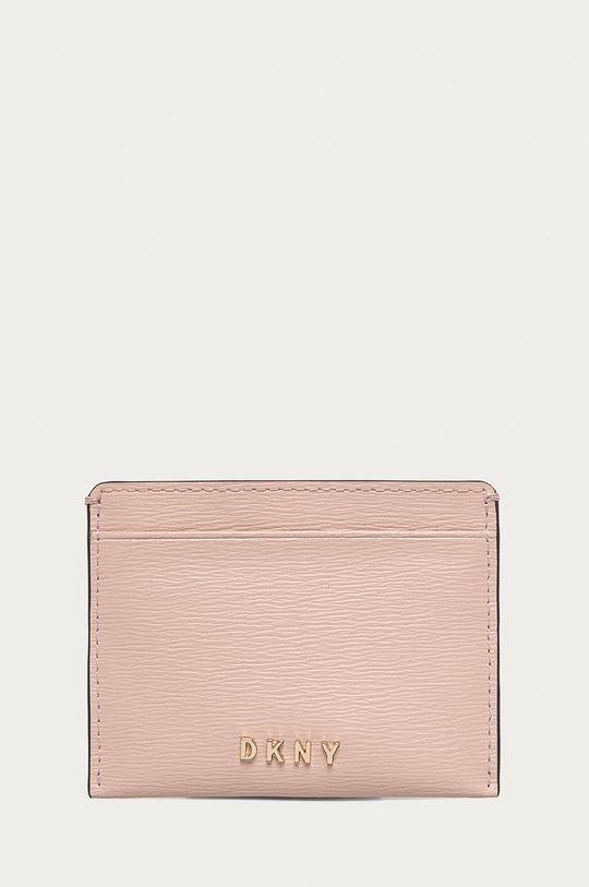 růžová Dkny - Kožená peněženka Dámský