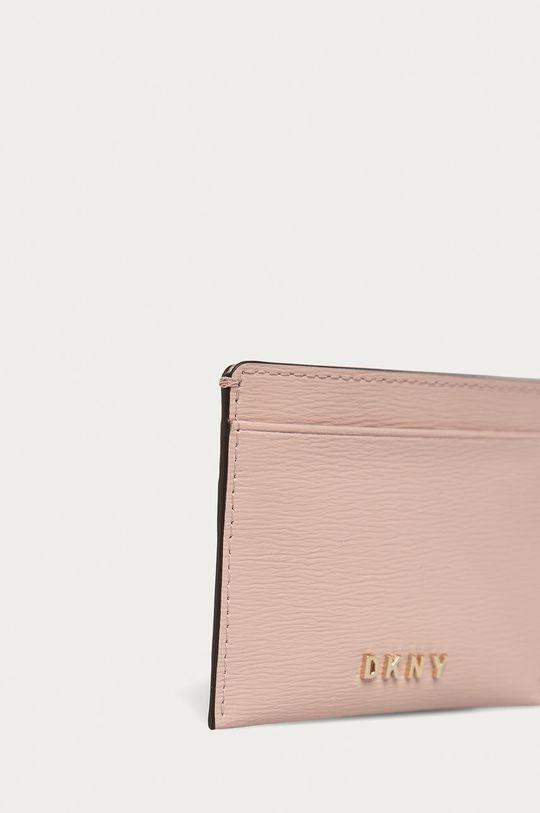 Dkny - Kožená peněženka růžová
