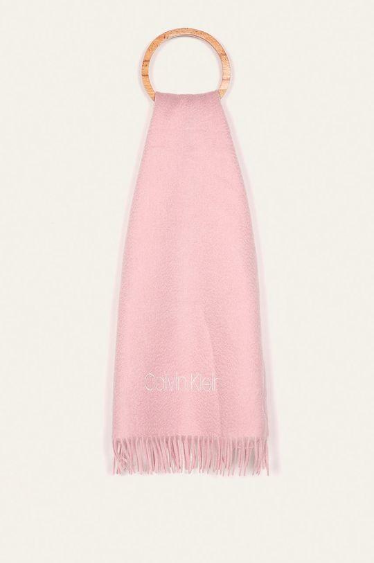 pastelově růžová Calvin Klein Jeans - Šála Dámský