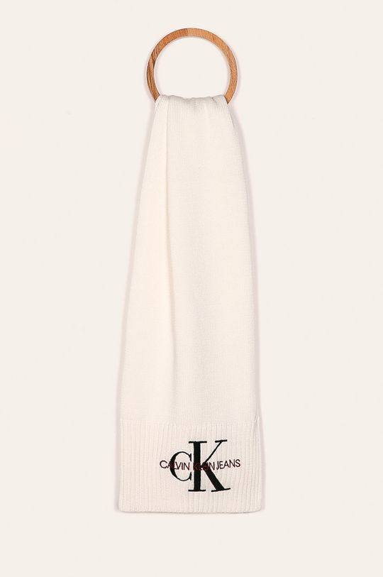 biela Calvin Klein Jeans - Šál Dámsky