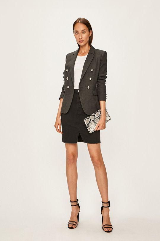 Armani Exchange - Rifľová sukňa čierna