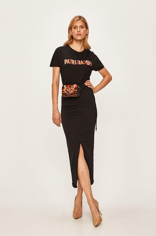 Patrizia Pepe - Džínová sukně černá