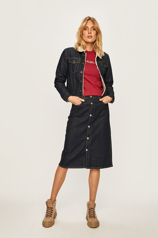 Calvin Klein Jeans - Fusta bleumarin