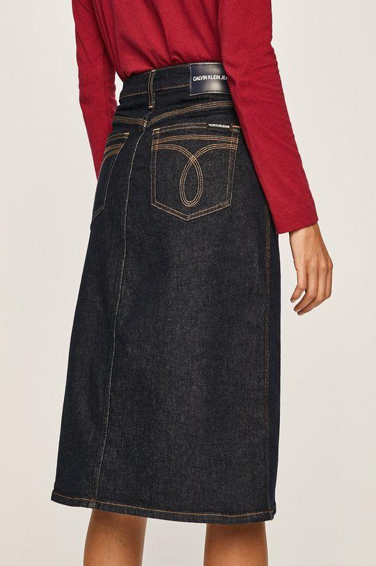 Calvin Klein Jeans - Fusta Materialul de baza: 99% Bumbac, 1% Elastan