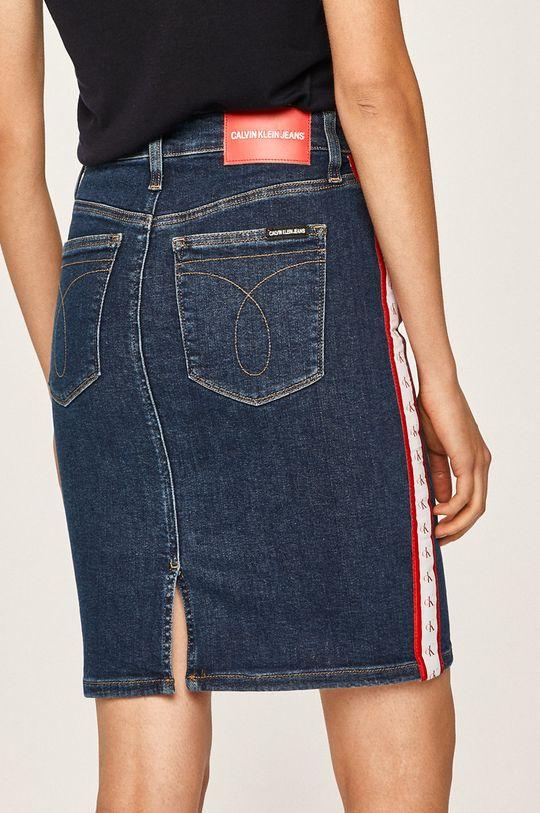 Calvin Klein Jeans - Fusta jeans 94% Bumbac, 2% Elastan, 4% Elastomultiester