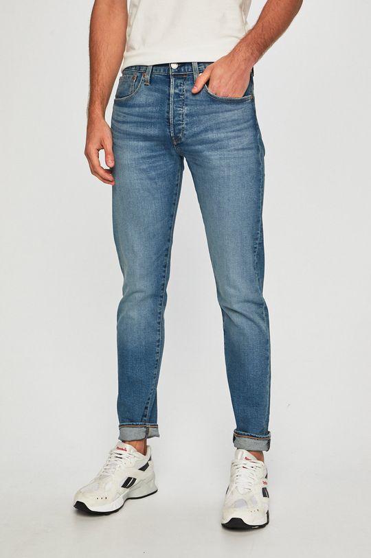 albastru Levi's - Jeansi 501 Slim Taper De bărbați