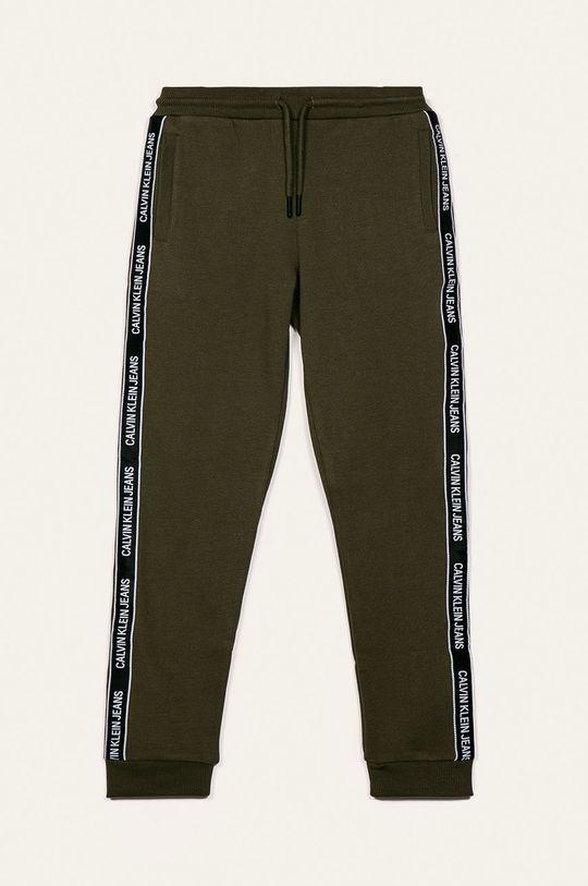 olivová Calvin Klein Jeans - Detské nohavice Chlapčenský
