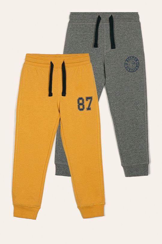 žltá Blukids - Detské nohavice 98-134 cm (2 pak) Chlapčenský