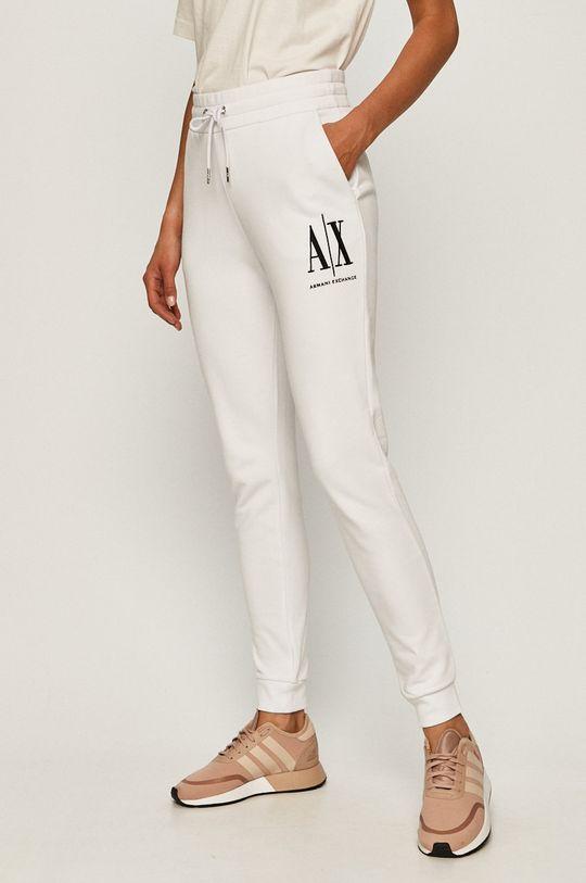 biały Armani Exchange - Spodnie Damski