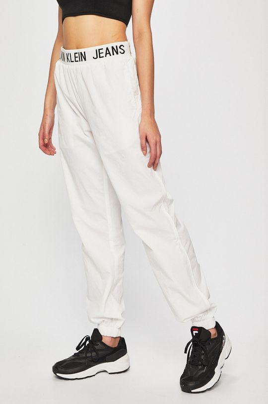 bílá Calvin Klein Jeans - Kalhoty Dámský