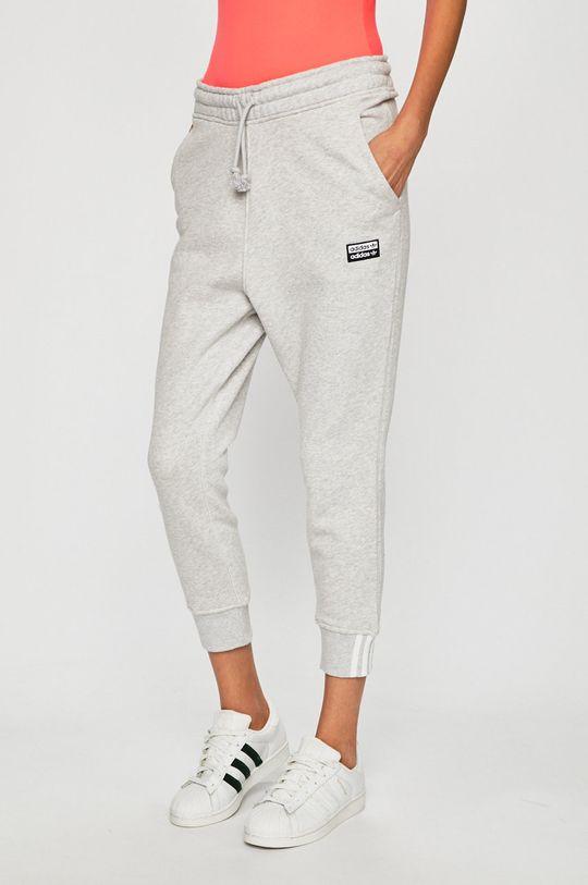 světle šedá adidas Originals - Kalhoty Dámský