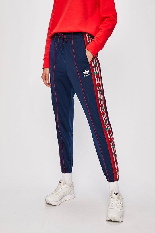 námořnická modř adidas Originals - Kalhoty Dámský