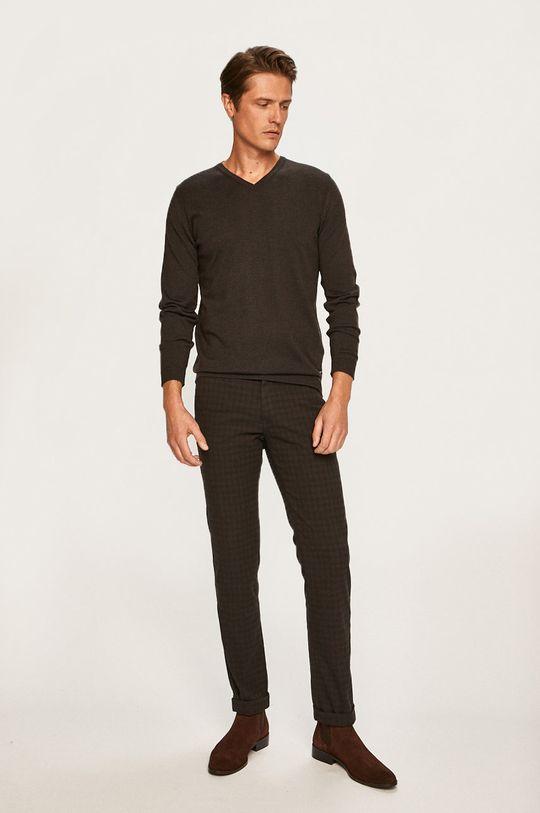 Pierre Cardin - Kalhoty tmavě hnědá