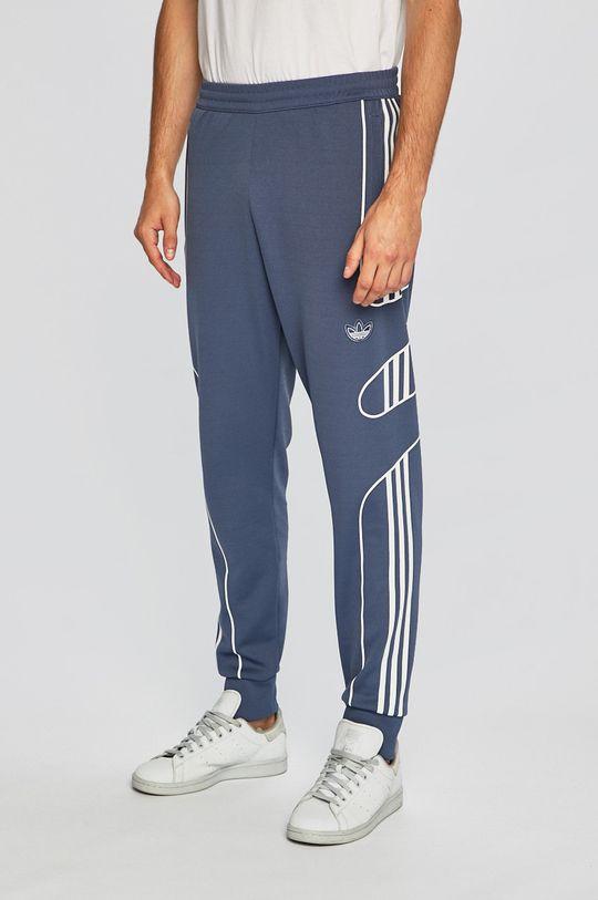 adidas Originals - Pantaloni albastru metalizat