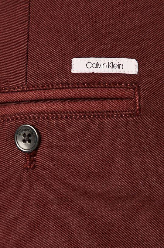mahagonová Calvin Klein - Kalhoty