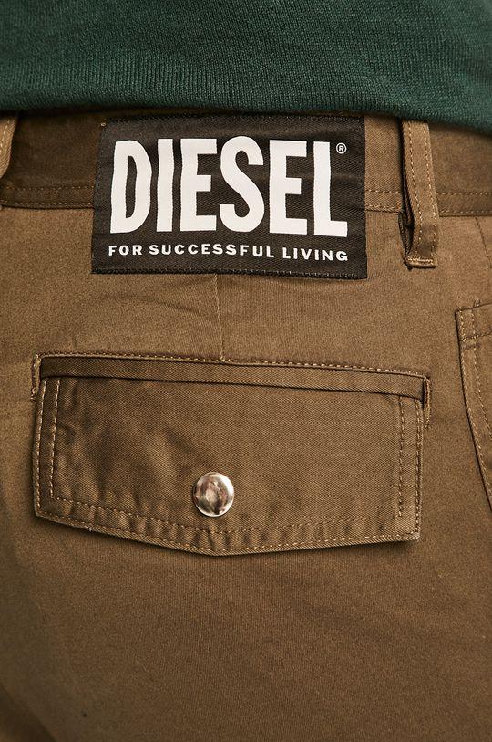 tmavě zelená Diesel - Kalhoty