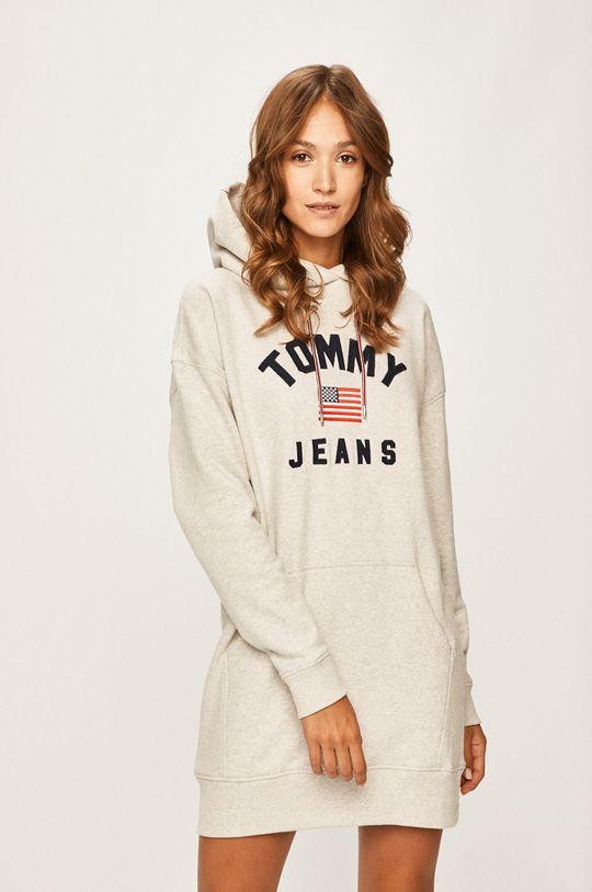 svetlosivá Tommy Jeans - Šaty Dámsky