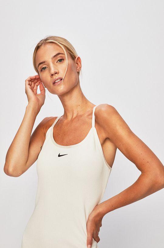 smetanová Nike Sportswear - Šaty