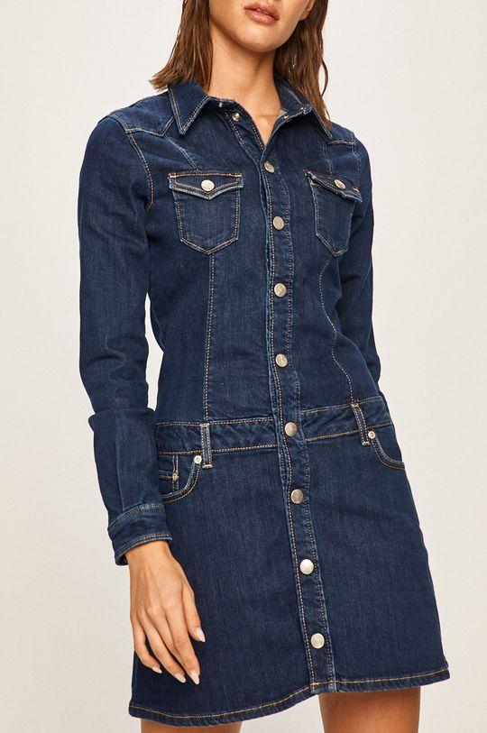 тъмносин Pepe Jeans - Дънкова рокля Dakota x Dua Lipa