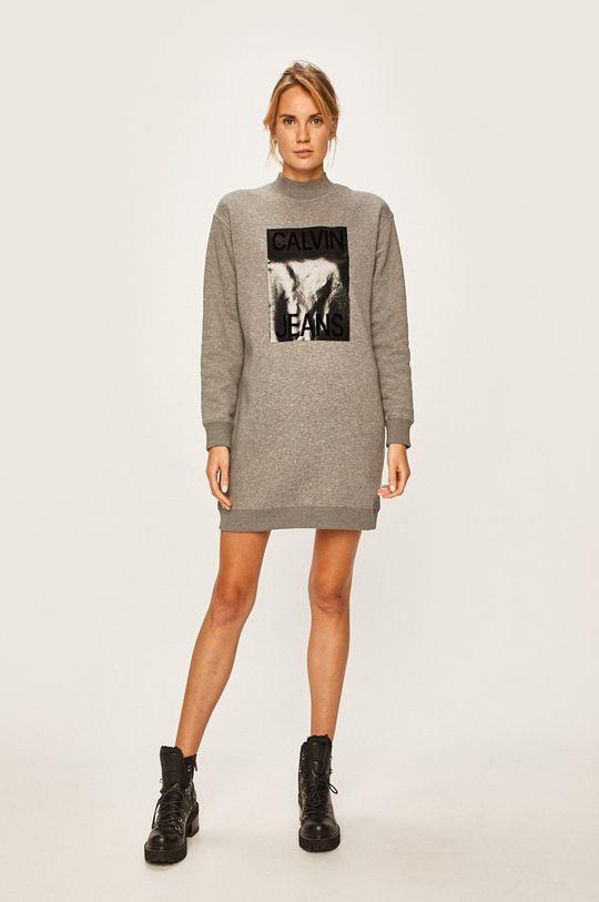 Calvin Klein Jeans - Rochie gri