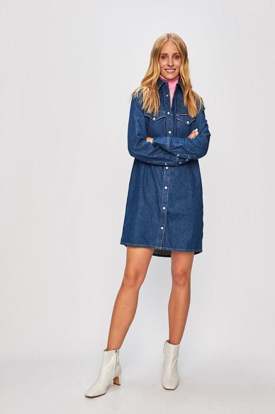Calvin Klein Jeans - Rochie albastru