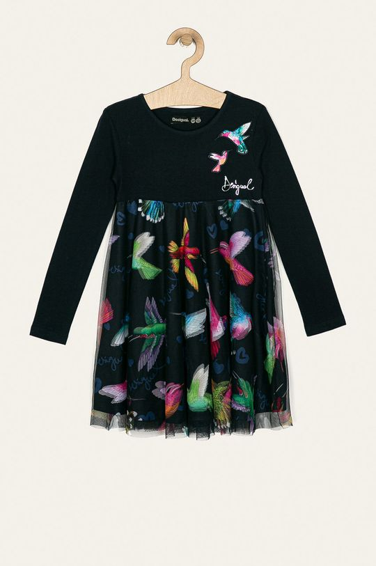 tmavomodrá Desigual - Dievčenské šaty 104-164 cm Dievčenský