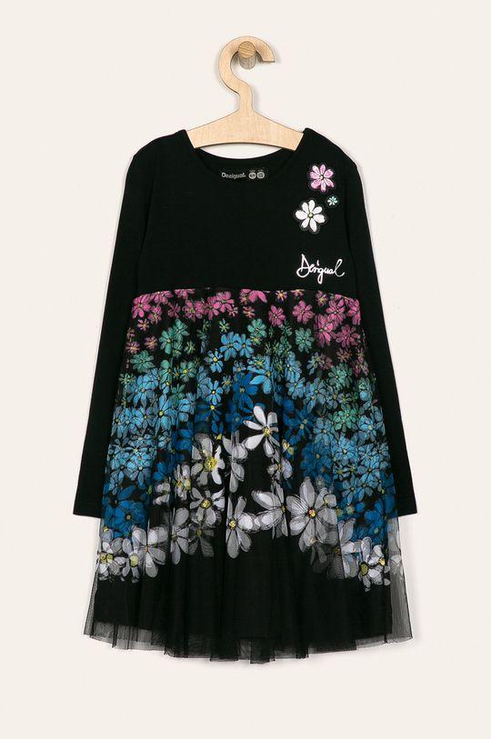 черен Desigual - Детска рокля 104-164 cm Момиче