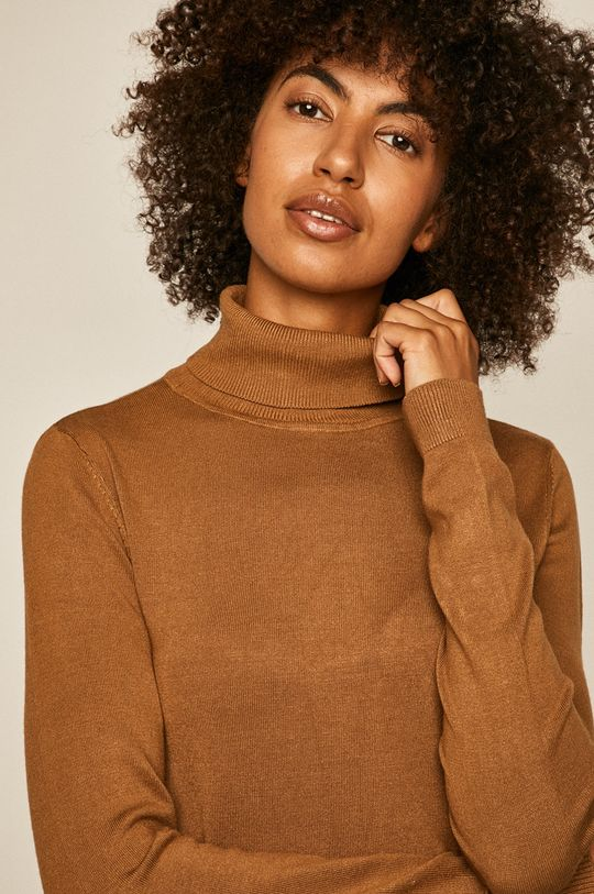 brązowy Vila - Sweter