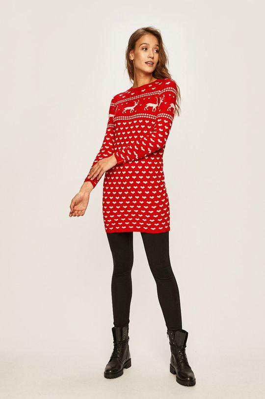 Only - Šaty ostrá červená