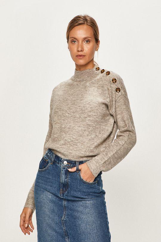 jasny szary Vero Moda - Sweter Damski