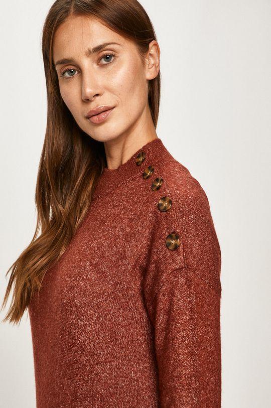 brązowy Vero Moda - Sweter Damski