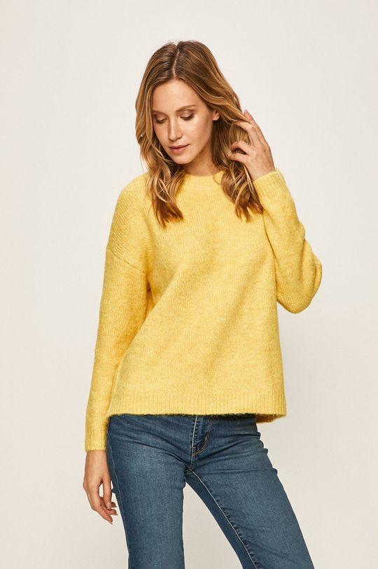 żółty Only - Sweter Damski