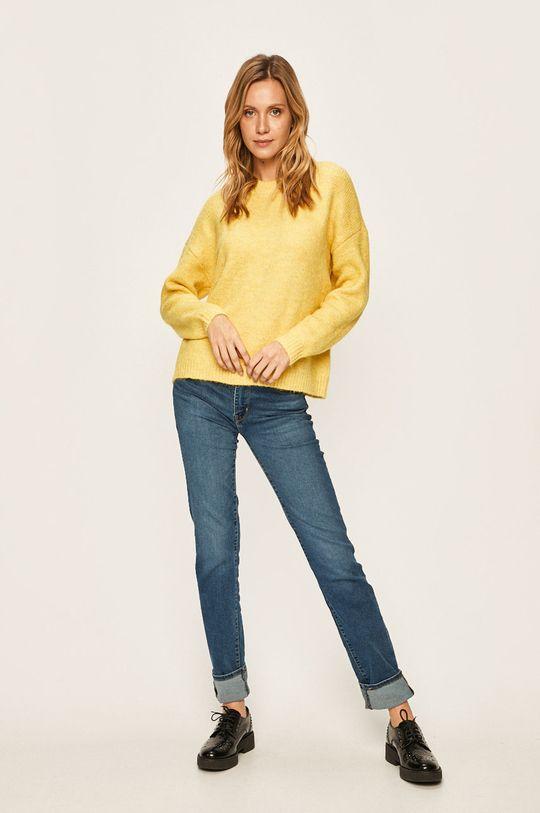 Only - Sweter żółty
