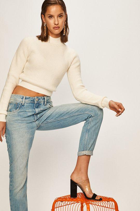бял Pepe Jeans - Пуловер Silvi x Dua Lipa