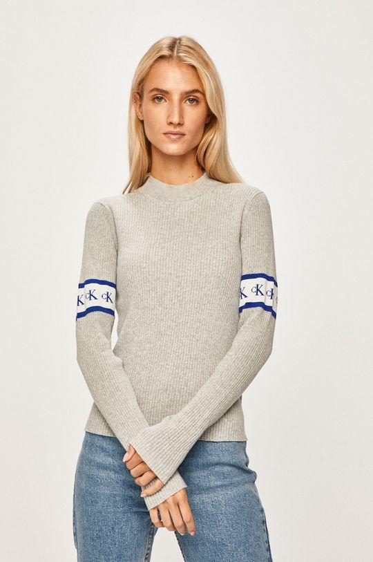 šedá Calvin Klein Jeans - Svetr Dámský